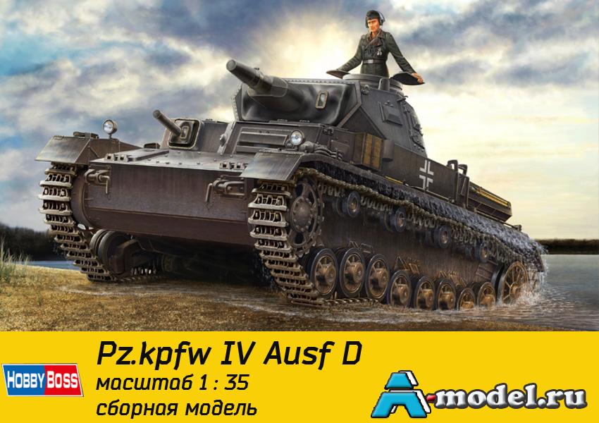 Купить German Panzerkampfwagen IV Ausf D / TAUCH сборная модель 1/35 Hobby Boss 80132  цена
