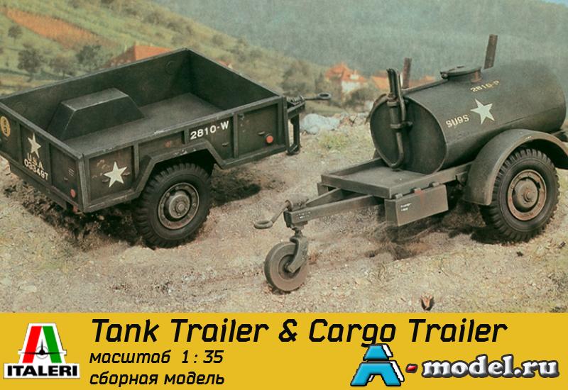 Купить Tank Trailer & Cargo Trailer сборная модель 1/35 ITALERI 229 цена, доставка