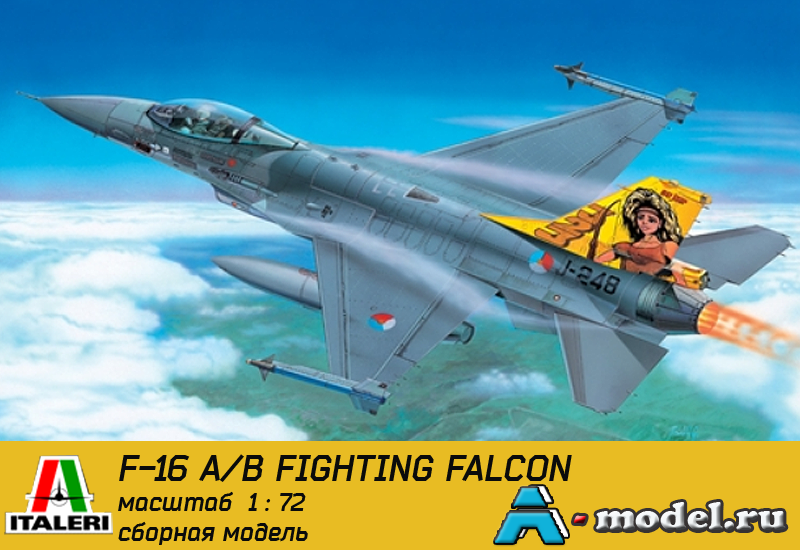 Купить F-16 Fighting falcon сборная модель самолёта 1/72 ITALERI 1271 цена, доставка