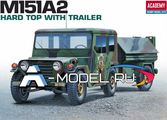 М151А2 hard top with trailer