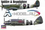 SPITFIRE Mk.Ixc,  BEAUFIGHTER Mk.X OPERATION OVERLORD 2 модели в коробке