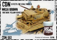 WASH BROWN FOR DARK YELLOY VEHICLES аналог TAMIYA