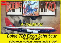 Boing 720 Elton John tour star ship one